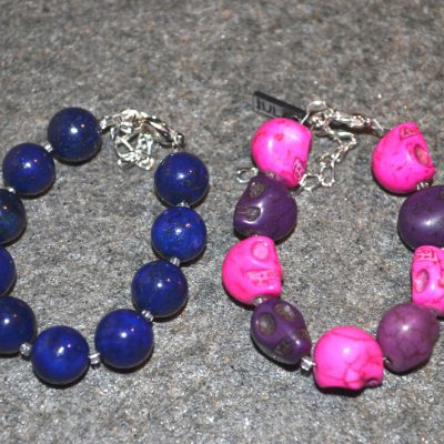 Baby girl and boy skull bracelet