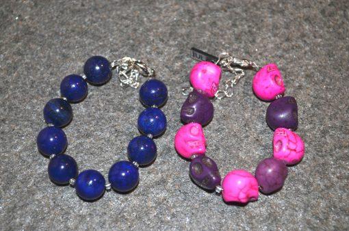 Baby girl and boy skull bracelet