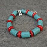 Coral & Turquoise Bracelet