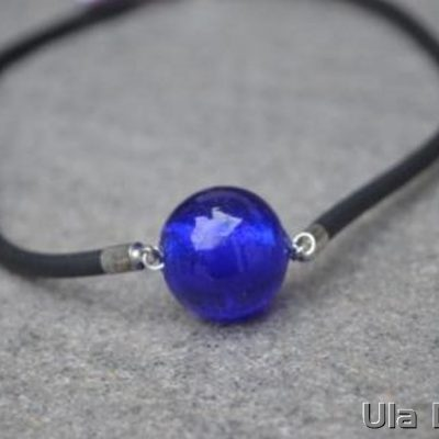Venetian Glass Royal Blue Necklace