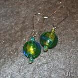 Venetian glass turquoise earrings