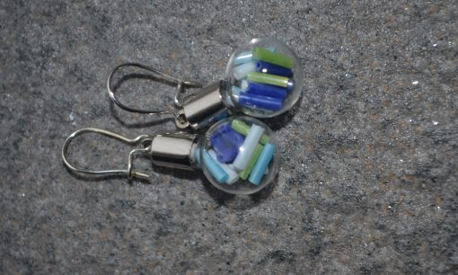 blue beads earrings