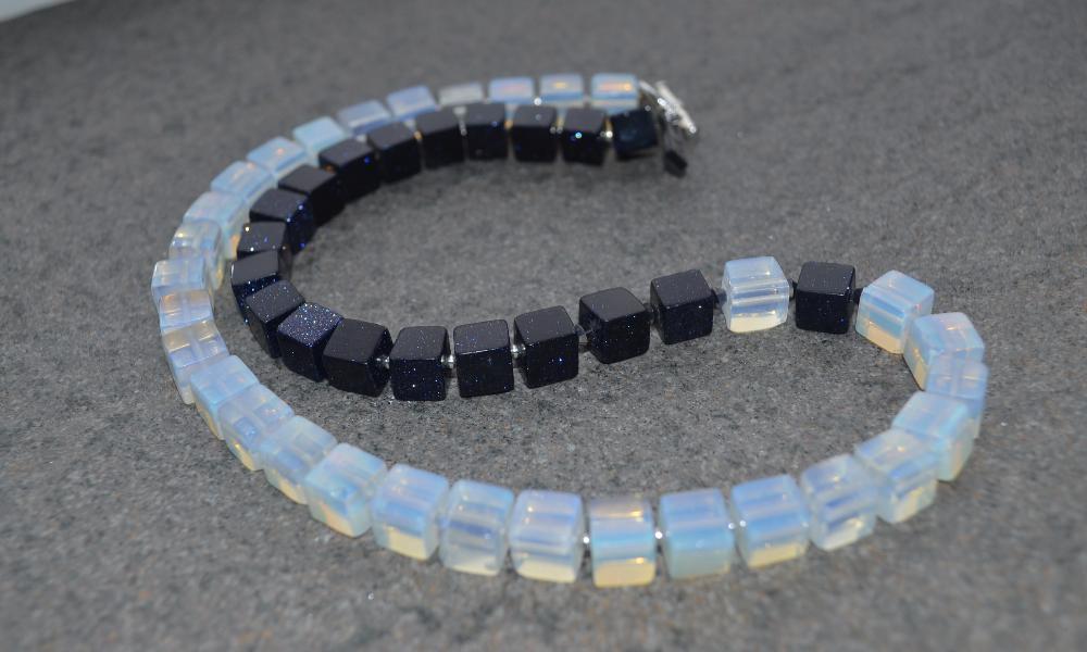 opal & stardust necklace